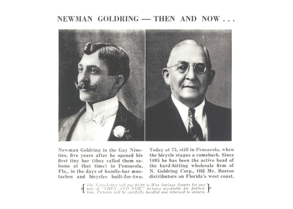 1848 - Newman Goldring opens first beer distributor in Florida